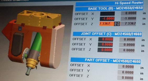 Blue Light Laser sensor tool definition into controller
