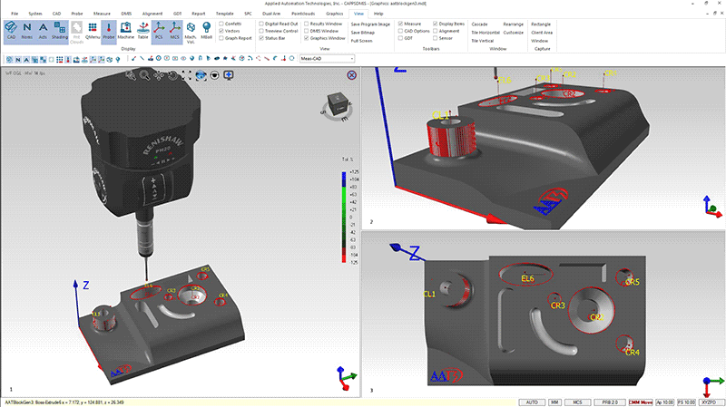 CappsDMIS CMM Metrology Software with a Renishaw PH20 5-axis probe
