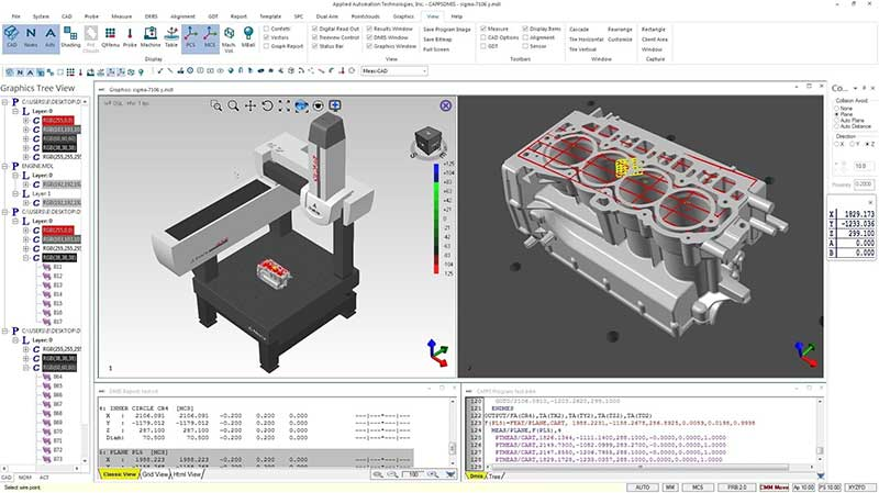CappsDMIS on CMM with engine block