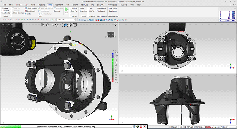 AAT3D CappsDMIS software with Renishaw Revo 5-axis probe head