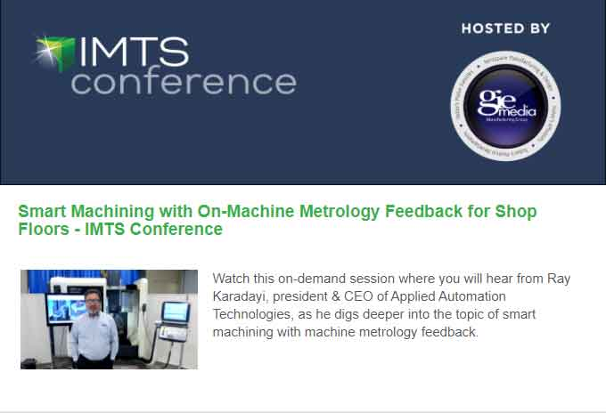 IMTS Conference -Smart Machining with On-Machine Metrology Feedback