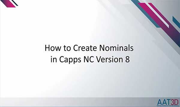 Create Nominals in Capps Software