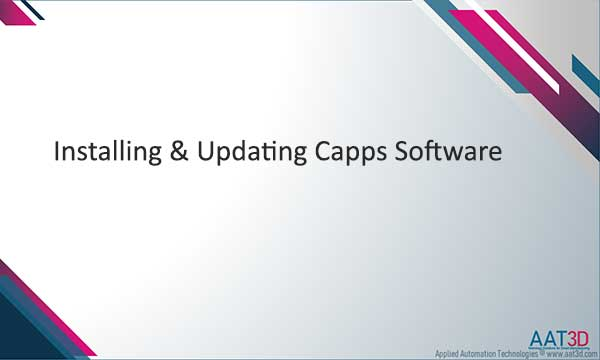Tutorial Installing and Updating Capps Software