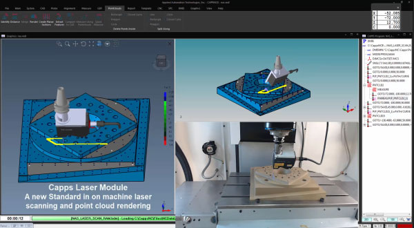 Laser Scanning and Point Cloud Rendering in CappsNC