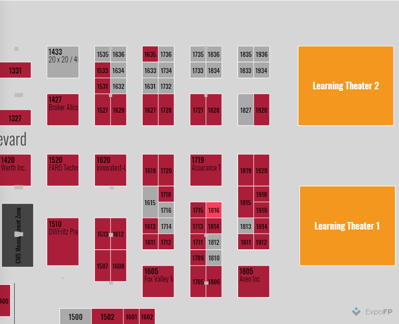 AAT3D Location on Quality Show Floor Plan